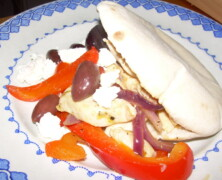 Kyckling med feta i pita